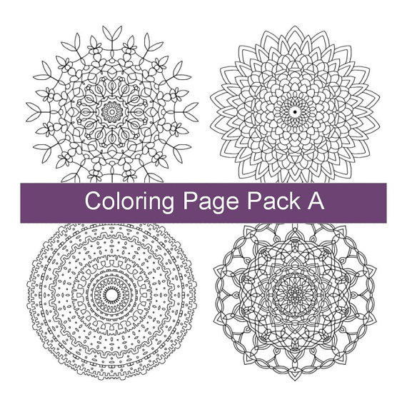 Four Adult Coloring Pages - PDF Printable From Tatania Rosa