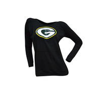 Green Bay Packers Cameo Hooded Long Sleeve with Screen Print
