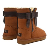 Tagre™ UGG Women Fashion Bow Fur Wool Snow Boots In Tube Boots Shoes