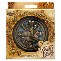 Disney Store Beauty & the Beast Live Action Film Compact Glass Mirror New w Box