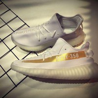DCCK Adidas yeezy boost 350 v2 sply-350 New Style Color White&Gold