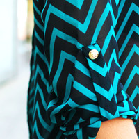 Look Back At It Blouse - Teal