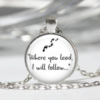 "Gilmore Girls ""Where you lead..."" Pendant Necklace Handmade Long Necklaces Pendants tvi"