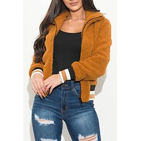 Cozy And Fun Sherpa Jacket Camel