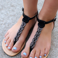 On the Town Sandal - Black