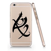 Shadowhunter Runes Fearless Clear Transparent Plastic Phone Case Phone Cover for Iphone 6 6s_ SUPERTRAMPshop (iphone 6)