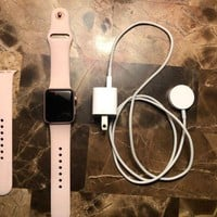 LMFON2D Apple Watch Series 2 38mm Aluminum Case Pink Sport Band - (MNNY2LL/A)