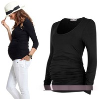 Maternity clothing springy top maternity t-shirt
