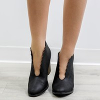 Call Me Later Black Booties