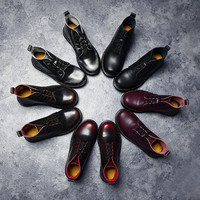 Hot Deal On Sale Leather Dr. Martens England Style Flat Winter Couple Boots [9553599754]