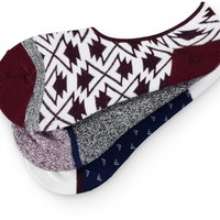 Empyre 3 Pack Lucky Tribal No Show Socks