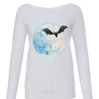 Moon and Bat Sweatshirt Jumper