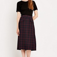 Urban Outfitters Midi Check Skirt - Urban Outfitters