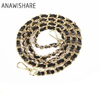 ANAWISHARE Bag Strap Gold Metal Chains Straps Shoulder Bag Strap Replacement Handbag Strap Accessory Bags Parts Bag Belt Long