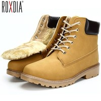 leather men boots winter man shoes ankle boot martin timberland