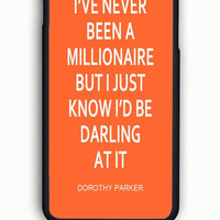 iPhone 6 Case - Rubber (TPU) Cover with I Have Never Been A Millionaire Kate Spade Inspired Rubber Case Design