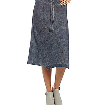 Eileen Fisher Linen Delave Skirt - Graphite