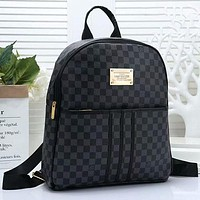 Louis Vuitton LV Woman Men Fashion Leather Backpack Daypack Rucksack Bookbag-2