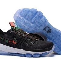 PEAPON3A VAWA Nike Men's Durant Zoom KD 8 Flyline Basketball Shoes Black Blue
