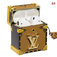 LV Louis Vuitton Fashion New Letter Monogram Print Protective Case Headphone Case Shell No Headset 4#
