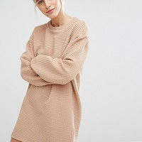 Monki Oversized Ribbed Sweat Dress at asos.com