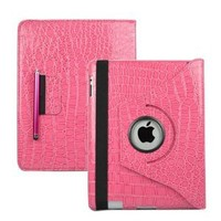 Amazon.com: Ctech 360 Degrees Rotating (Pink Crocodile) Leather Case Cover w/ Swivel Stand for iPad 3 / The New iPad (3rd Generation) /iPad 2 Wi-Fi/4G Model, Supports Smart Cover Wake/Sleep Function: Computers & Accessories