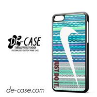 Just Do It Nike Aztec Blue Patern For Iphone 5C Case Phone Case Gift Present