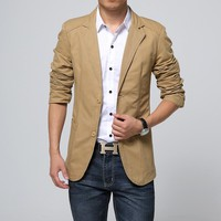 new autumn outfit 2018 small suit men's cultivate one's morality Casual cotton suit