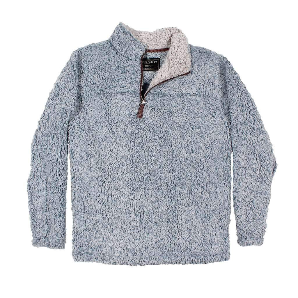 Image of The Original Frosty Tipped Pile 1/2 Zip Pullover in Denim by True Grit