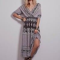 Free People Womens She's a Lady Printed Dress