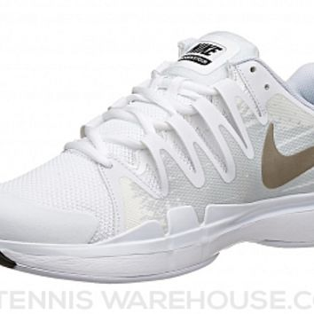 Nike Zoom Vapor 9.5 Tour White/Gold Men's Shoe
