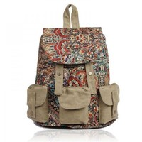 ZLYC Backpack with Ethnic Style Patten Printing