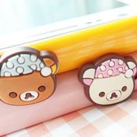 Lovely teddy earphone plug  pick your color by FreshFactory