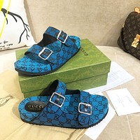 GUCCI GG summer new men's and women's slippers shoes