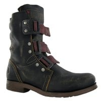 Fly London Sheen Black Leather Mens Boots