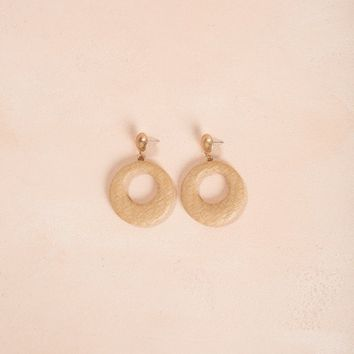 Kennedy Straw Hoop Earrings
