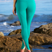 HEART BUTT™ YOGA LEGGING - EMERALD GREEN