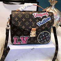 "Hot Sale ""Louis Vuitton"" LV Stylish Women Monogram Leather Handbag Shoulder Bag Crossbody Satchel"