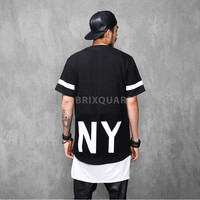 Elongated NY 1/2 Long T Shirt Extended