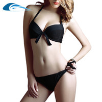 Black Micro Women Sexy Bikini Sets Push Up Swimsuit Bathing Suits Low Waist Pin Up Padded Beach Wear Swimwear Brazilian Bikinis