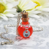 Health, Stamina or Mana Potion Bottle Necklace Jewelry RPG Video Game Gamer Gift