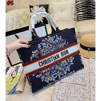 Dior 2019 new high quality women's personality portable large capacity shopping bag #5