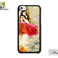 Dance Like No One Is Watching Altered Art Collage Ballerina iPhone 5c Case Cover by Avallen