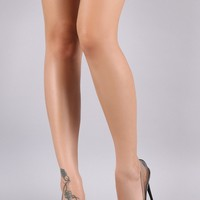 Liliana Transparent Pointy Toe Stiletto Heel