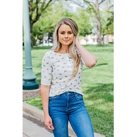 All Summer Long Floral Top-Ivory