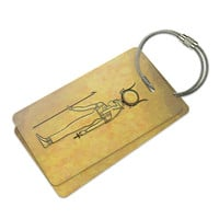 Hathor Ancient Egypt Luggage Tag Set