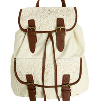 Crochet Trim Backpack | Shop Accessories at Wet Seal