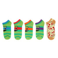 Teenage Mutant Ninja Turtles Stripes No-Show Socks 5 Pair