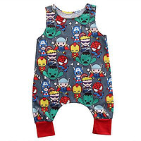 Baby Kids Girl Boy Infant Summer Sleeveless Romper Harlan Jumpsuit Clothes Outfits