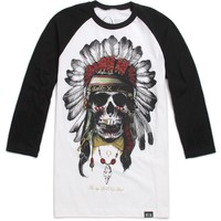 Rook New Breed 3/4 Sleeve T-Shirt - Mens Tee - Black -